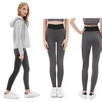 Sexy Womens Yoga Leggings Fitness Workout Pants 2015 New Fashion Women Patckwork Leggings Black Gray 5 Size XS S M L XL