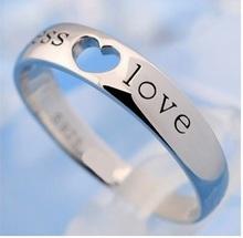 Wedding Engagement Rings for Men/ Women Jewelry New 2015 Designer Cute Unisex Endless Love Heart Ring Wholesale Ulove J205
