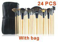 2014 Makeup Brush Professional 24 pcs Set tools Make-up Wool Brand Toiletry Kit  Make Up Brush Set Case hot sale black XM050