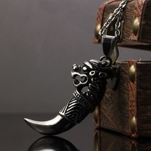OPK Brand Fashion New 2015 Dragon Design Cool Man Pendants Punk Rock Stainless Steel Personality Men Jewelry Necklaces