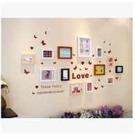 22*60 CM Vine Flower Butterfly hearts letters Removable plane Wall Sticker Home Decor Art Decal 2 colors
