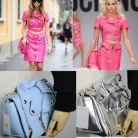 2015 Fashion Clothing Garment Jacket Women Messenger Brand Bags Purse Satchels Handbags Chain Shoulder Bags Party Evening BA330