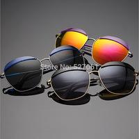 New Fashion Women Men Unisex Vintage Round Mirror Lens UV400 Sunglasses Glasses 4 Colors Frame