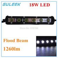 18W B 1260lm 6000K 6-Cree XB-D LED Ultrathin Work LIght Bar for Car/Boat Flood Super Bright