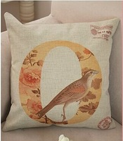 home textil 43*43cm home decro LOVE letter  cushion cover  cotton and linen  materail Free shipping