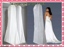 in Stock New Arrival Free Shipping170cm Long TRAIN Wedding Dess Dust Bag Evening Dress Dust Cover Bridal Garment Storage Bag2015(China (Mainland))