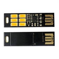 5pcs Mini USB Power 6 LED SoShine 1W warm White USB mini pocket 6-LED lamp light for laptop camera 1pcs