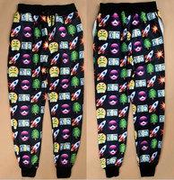 2015 Fashion Emoji Joggers High Quality Joggers Pants Sweatpants Men Women Running Sport Loose Casual Free Shipping