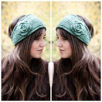 Classical Flower Women's Knitted Headwrap Knitting Crochet Headband Ear Warmers for Girls Teens Women KH852469