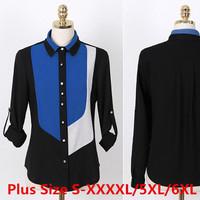 Quality S-XXXXL 5XL 6XL Plus Size Women Clothing Casual Chiffon Blouse Shirt Tops Tee Tropical Autumn Femininas Blusas de Renda