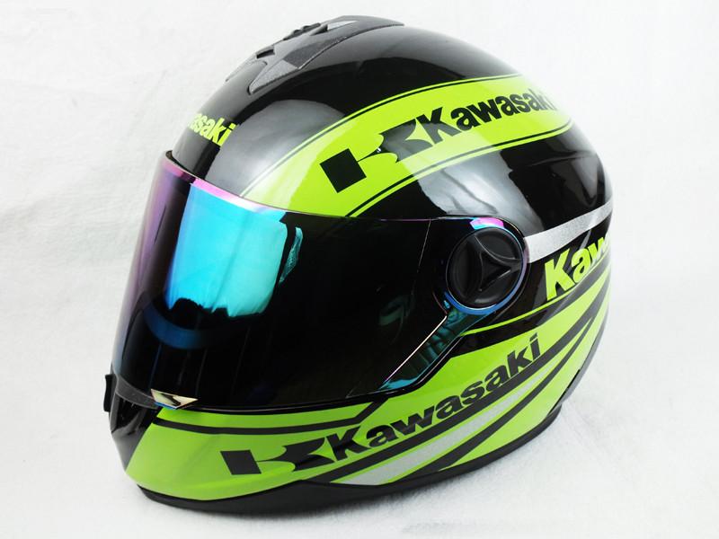 New arrival Kawasaki motorcycle Helmet Mens full face helmet professional racing helmet motocicleta capacete DOT Approved(China (Mainland))