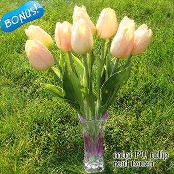 На складе настоящее сенсорный PU мини тюльпан искусственные цветы главная декоративные цветы свадебный декор 11 шт./лот дешевые флорес Artificiais