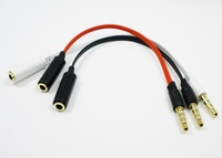 1pcs/lot Headsets OMTP to CTIA conversion adapter cable / 3.5mm male to female converter cable / audio adapter cable