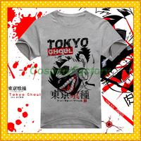 Free Shipping New O-Neck Tokyo Ghoul Ken Jyuzo Fashion Anime Cosplay Cotton Tees,0.6kg/pc