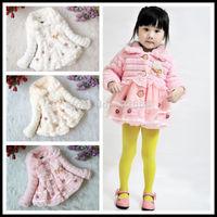 Baby Children Faux Fur Outerwear Clothes Girls Kids Long Sleeve Jacket Coat Winter Autumn