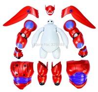 New 16cm Transform Assemble Big Hero 6 Baymax PVC Action Figure Toy Fat Balloon Man Doll Baymax Transformations Robot Toys Gift