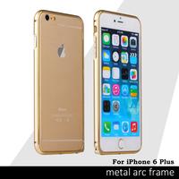 New Popular Case For iphone 6 Plus 5.5 inch Metal Aluminum Frame Bumper Cases For Apple Iphone6 Plus Anti-knock Phone Cover