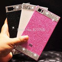 original acrylic back cover glittering diamond cover case for xiaomi hongmi/redmi 1S case for hongmi/redmi note free shipping
