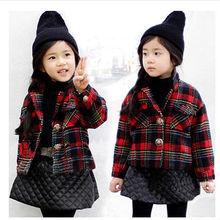 Настоящее Casacos Femininos Authenticchildren святого девочки утолщенной клип пальто осень и зима в возрасте [ 3 — 8 мм