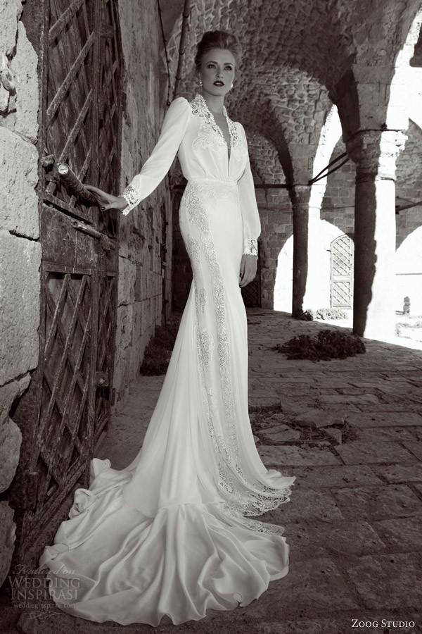 Long Sleeve 50s Wedding Dress : Aliexpress buy vintage long sleeve wedding dresses sweep train