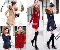 2015 casual Slim Women   Warm Jacket Thicken Coat Fleece Hooded Faux Fur Lined Outerwear