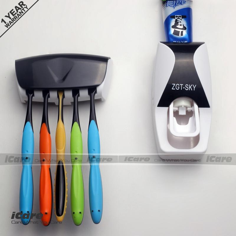 Toothbrush Holder Automatic Toothpaste Dispenser Tooth Paste Tube Squeezer Dispenser Tooth Brush Holder Rack Box(China (Mainland))