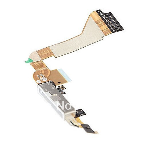 100% guarantee original Dock connector charging port flex cable for iPhone 4 4G black/white