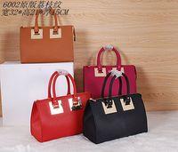 2014 brand design women real grain cow leather Mini Zip Top Bowling Bag NO.6002