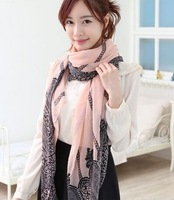 Striped voile lace scarves Autumn and winter joker women scarf shawl bufandas women accessories