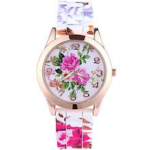 Fashion Flower Silicone Watches Women Dress Quartz Watch Water Resistant Wristwatches Casual Ladies Relogio Clocks Wrist Watches(China (Mainland))