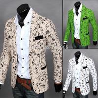 9 Colors ! 2015 New Stylish Flower Designs Cheap Mens Blazers Slim Fit Suits For Men Nice Blazers Suit Mens Floral Blazer M-XXL