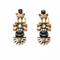 E97 fashion vintage earrings flower Rsin Stud Earrings jewelry accessory  woman in Europe and America  LC50
