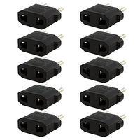 Trendy 10PCS US/AU to EU Travel Converter AC Power Plug Power Charger Adapter