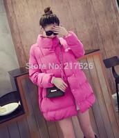 2015 New  Arrival Women's fashion  medium-long warm  elegant cotton-padded jacket wadded snow  outerwear winter jacket women