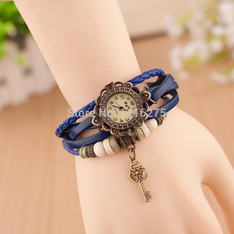 Crazy hot sell bracelets table, hot blasting student watches retro trend key bracelet watch ladies retro Bracelet table-w015(China (Mainland))