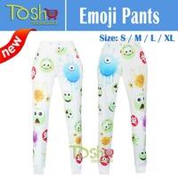 2015 New Print Emoji Joggers Pants Sweater Hoodies Clothing Women/Men/Unisex Sweatpant Trousers Cartoon Outfit Free Shipping