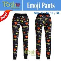 2015 New Brand Men Women Joggers Emoji Pants Printed 3D Emoji Joggers Emoji Clothes Free Shipping