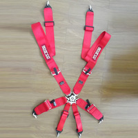 """2pcs/lot 2015 New condition FIA 2019 Homologation 3"""" 6Point SPA*RC* Racing Seat Belt RACING HARNESS(Red,blue,black)"""