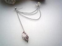fashion jewelry earrings Women Girl Stylish Punk Rock Leaf Chain Tassel Dangle Ear Cuff Wrap Earrings