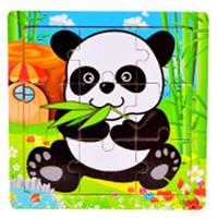 9pcs Wooden Cartoon Wild Animals Jigsaw Puzzle Quebra Cabeca Kids Educational Intelligence Development Toys