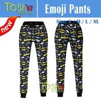 2015 New Emoji Joggers Pants Sports Cartoon Women Joggers Emoji Print Sweatpants Sportswear Women Fitness Pants Free Shipping