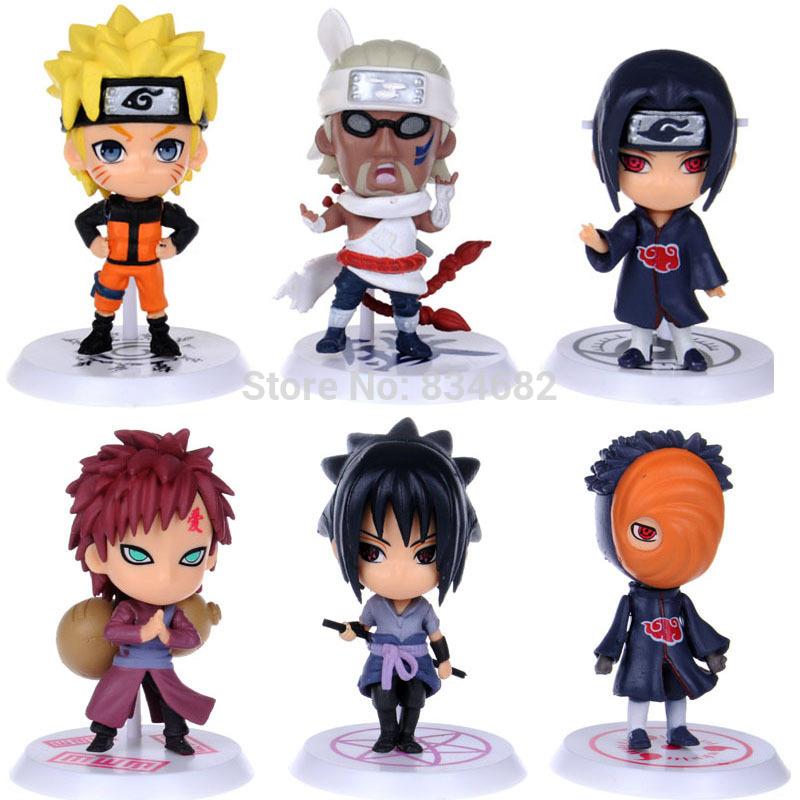 J.G Chen 6pcs/set New Arrival Anime Japanese Cartoon Naruto Cute Action Figure Toy Set Figurines PVC Kids Toys Free Shipping(China (Mainland))