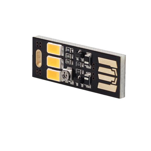 Portable 5V 3-LED Lighting Control Night Light / Novelty Lighting Mini USB Lamp for Power Bank Computer Laptop - 1 piece(China (Mainland))