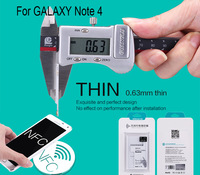Free Ship Nillkin Qi Wireless Charger Receiver for Samsung GALAXY Note 4 N9100 Wireless Charging Adapter retail box