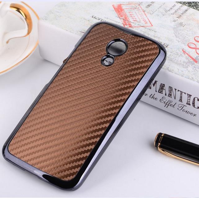Capa For Moto G2 Luxury Carbon Fiber Skin Metallic Chrome Back Case Cover for Motorola Moto G2 XT1068 XT1069 Phone Bags Cases(China (Mainland))