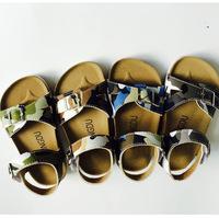 Fashion Boy Cork Shoes Birkenstock Sandals Children Comfortable Casual Sandals 22-34 Beach Summer Sandals for boy