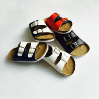2014 Boys Pacthed Cork sandals casual child comfortable Birkenstocks sandals Boys Slippers