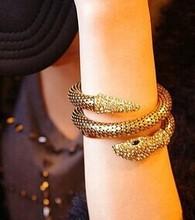 Hiphop Steampunk Personalized snake cuff bracelets bangles korean luxury strass pulsera mujer pulseiras femininas brazalete gift