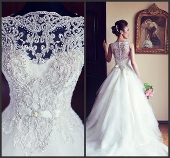2015 аманда Novias горячая распродажа белый популярные бисероплетение бальное платье кантри свадебное платье в бразилии vestido