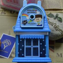 2 цвета большой дом механический карандаш точилка машина для детей милый карандаши точилки канцелярские школа поставки Deli